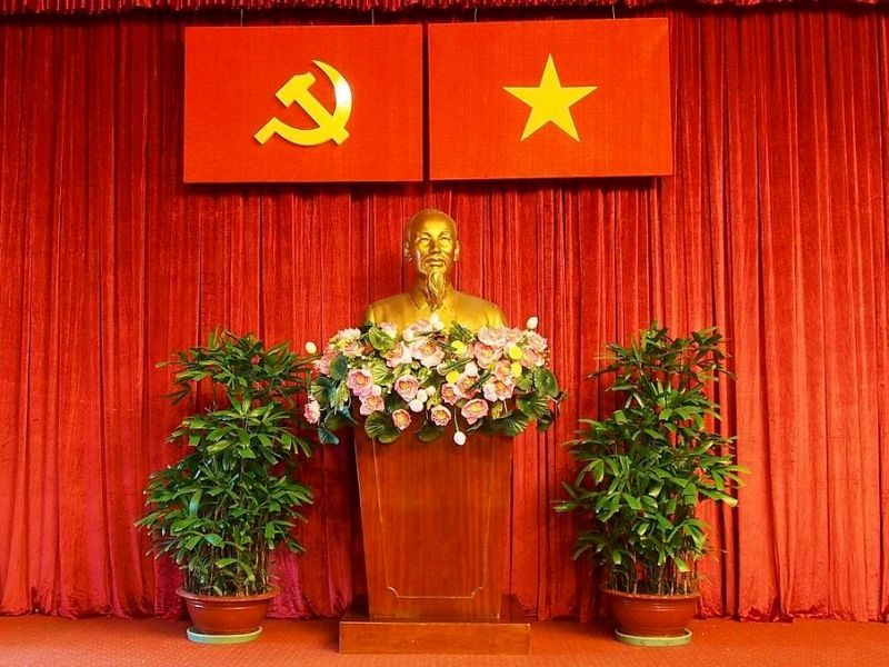 A bust of Vietnamese revolutionary leader Ho Chi Minh at the Independence Palace museum. Photo: Wikimedia Commons
