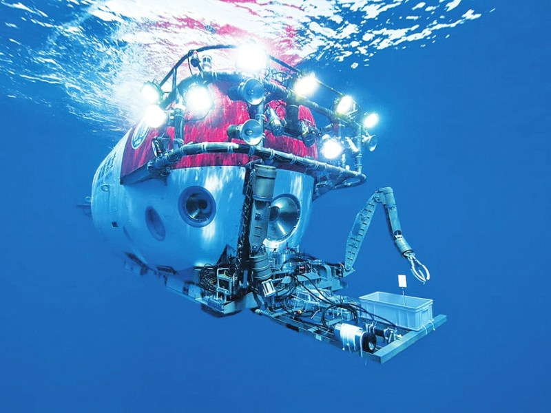 China's manned submersible Deep Sea Warrior can dive to 4,500 meters below sea level. Photo: Xinhua