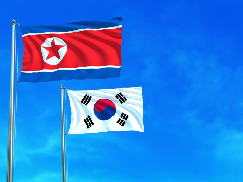 North and South Korea flags. Photo: iStock