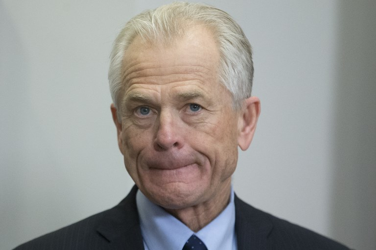 Director of the White House National Trade Council Peter Navarro. Photo: AFP