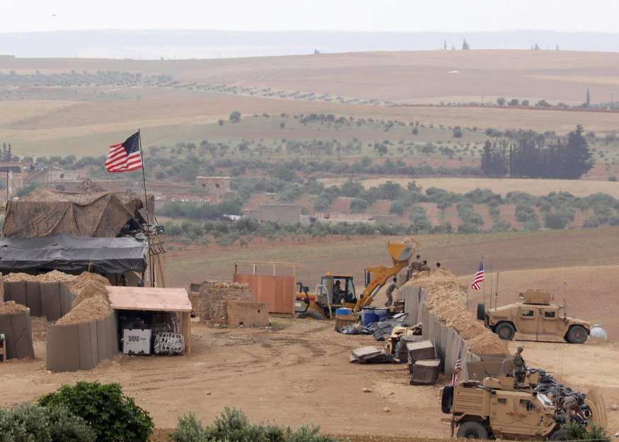 US forces setting up a new base in Manbij, Syria. Photo: Reuters/Rodi Said