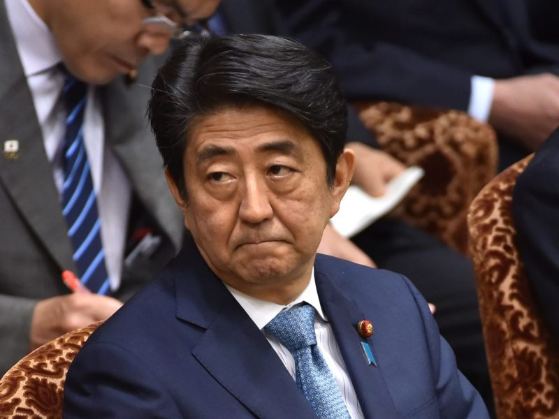 Japanese Prime Minister Shinzo Abe has been reaching out to Israel. Photo: AFP/Kazuhiro Nogi