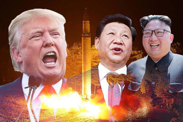 Image of US President Donald Trump, China's leader Xi Jinping and North Korea's Kim Jong-un. Photo: Getty Image