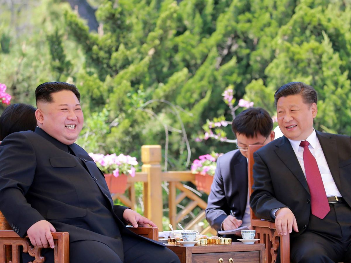Chinese President Xi Jinping and North Korean leader Kim Jong Un in the Chinese city of Dalian in May. Photo: AFP