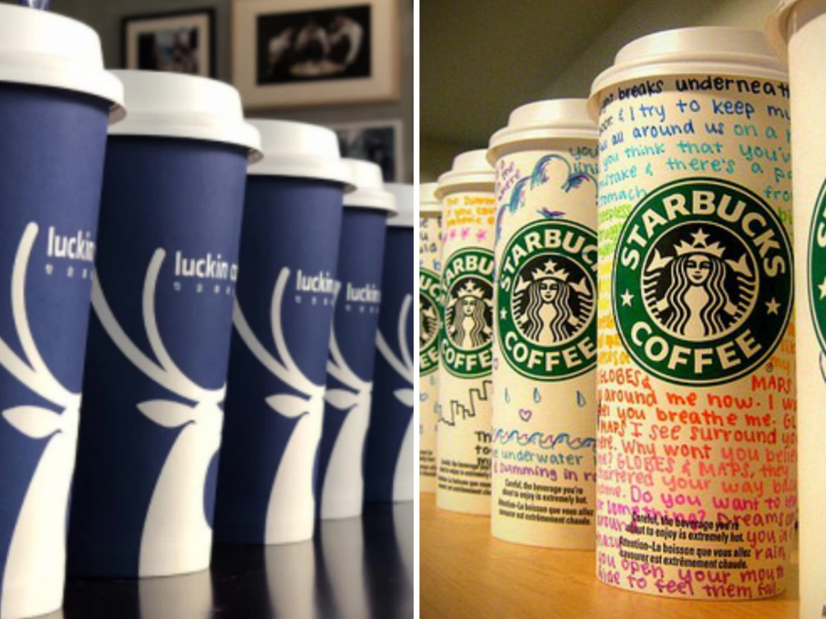 Competition is hotting up with Luckin saying it has already filed an anti-trust lawsuit against Starbucks China. Photo: Weibo