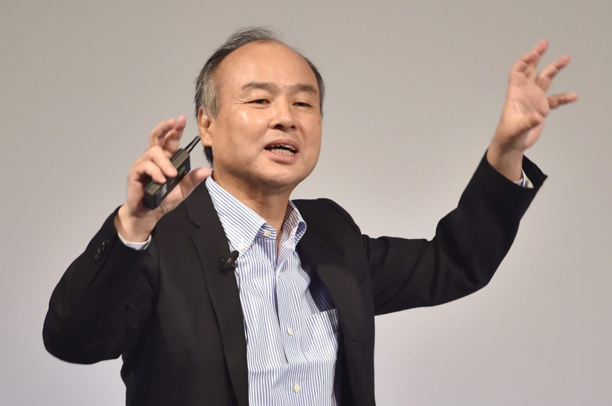 SoftBank founder Masayoshi Son delivers a speech in Tokyo on July 21, 2016. Photo: AFP/Kazuhiro Nogi