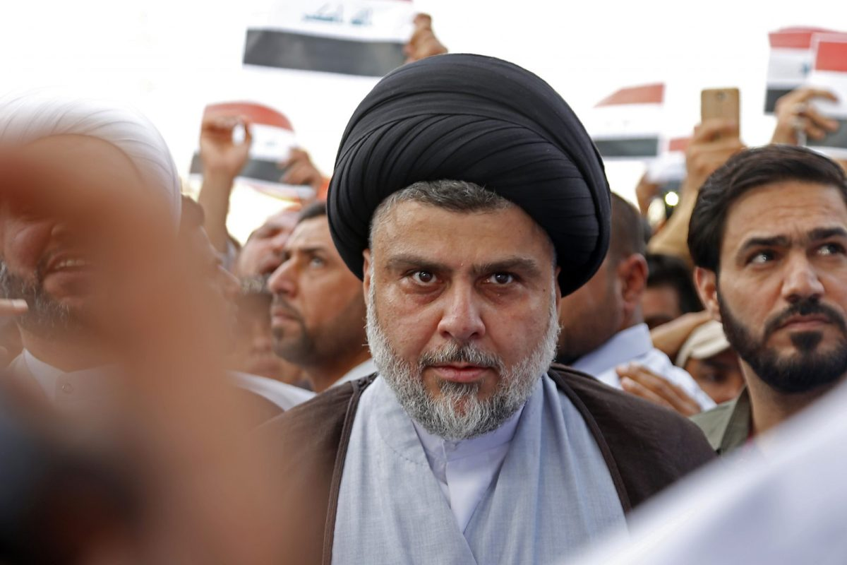Shiite cleric Muqtada al-Sadr was one of the big winners in the Iraq election. Photo: AFP/Haidar Hamdani