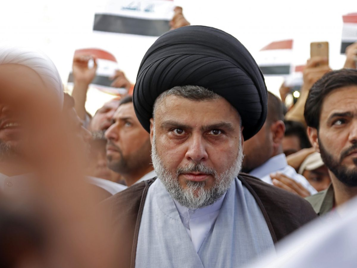 Shiite cleric Muqtada al-Sadr was one of the big winners in the Iraq election. Photo: AFP/Haidar Hamdani