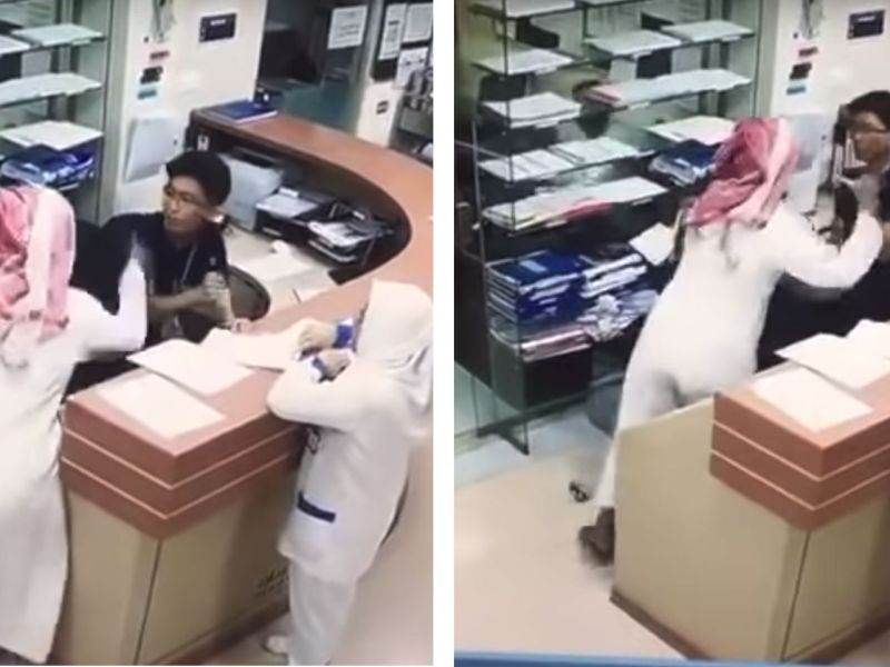 Filipino nurse Rolando Mina was stabbed by a Saudi national with a knife for unknown reasons. Photo: YouTube