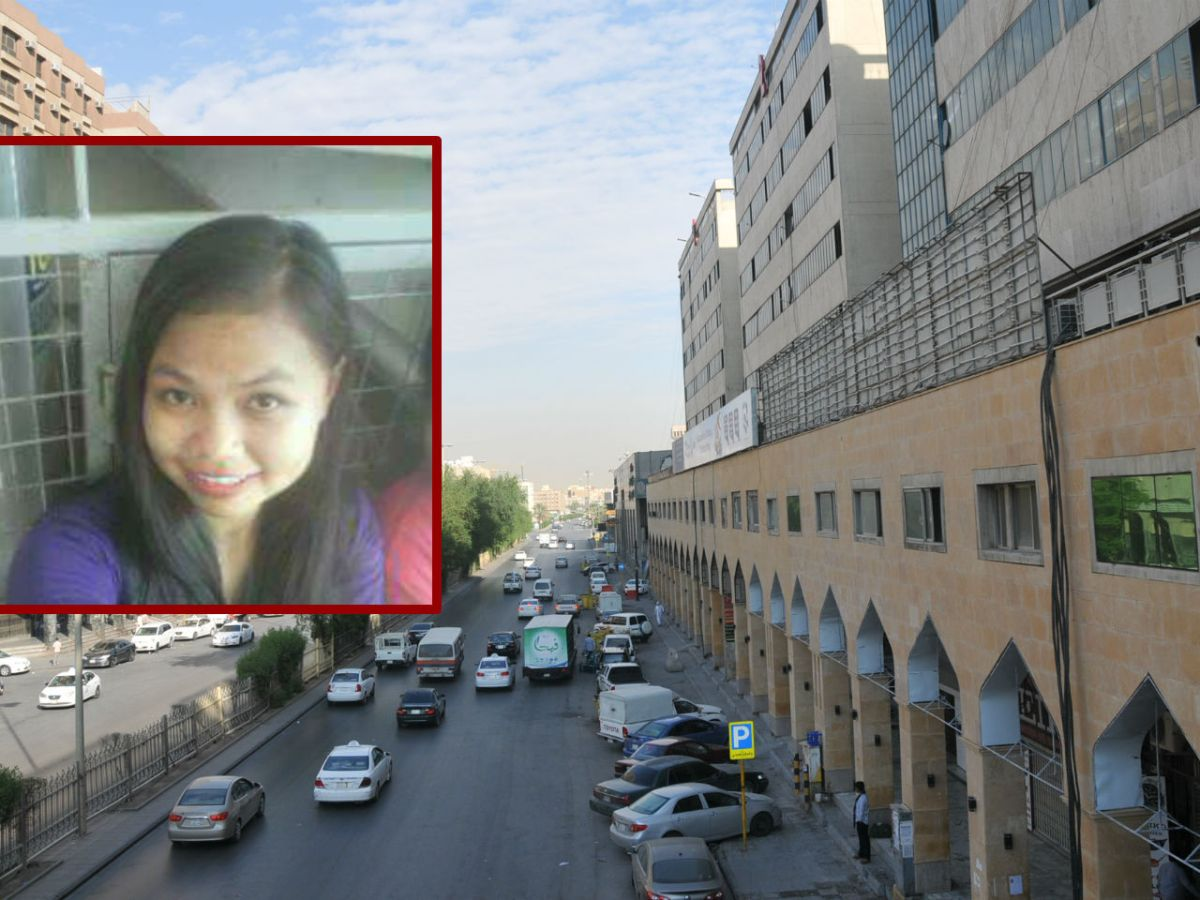Filipino domestic worker Norkisah Lymanh (inset) is said to have been stabbed to death by her employer in Saudi Arabia. Photos: Facebook, Wikimedia Commons