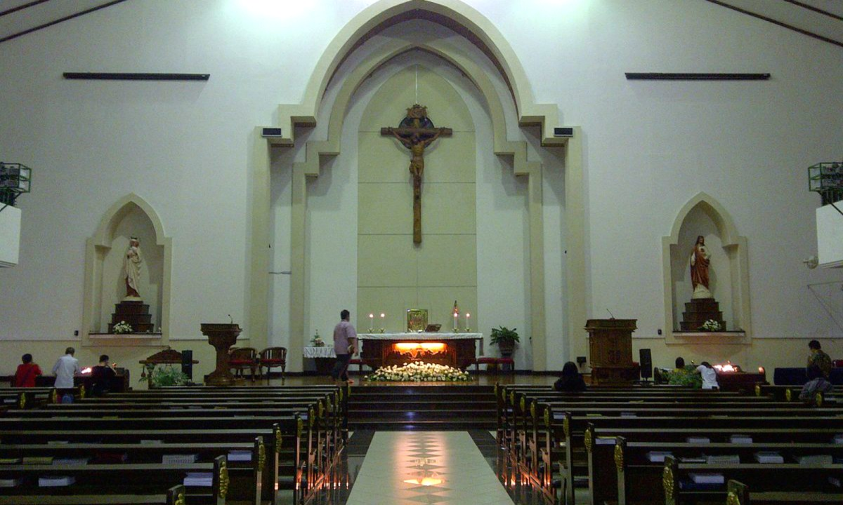 Santa Maria Tak Bercela Catholic Church in Surabaya. Photo: Wikimedia Commons, Okkisafire