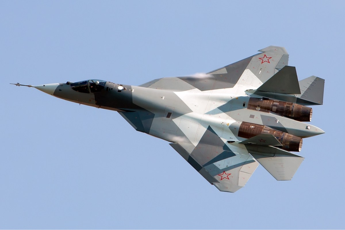 Sukhoi SU-57 (T-50). Photo: Wikipedia/Alex Beltyukov