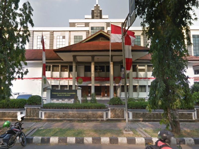 Tangerang District Court in Banten, Indonesia. Photo: Google Maps