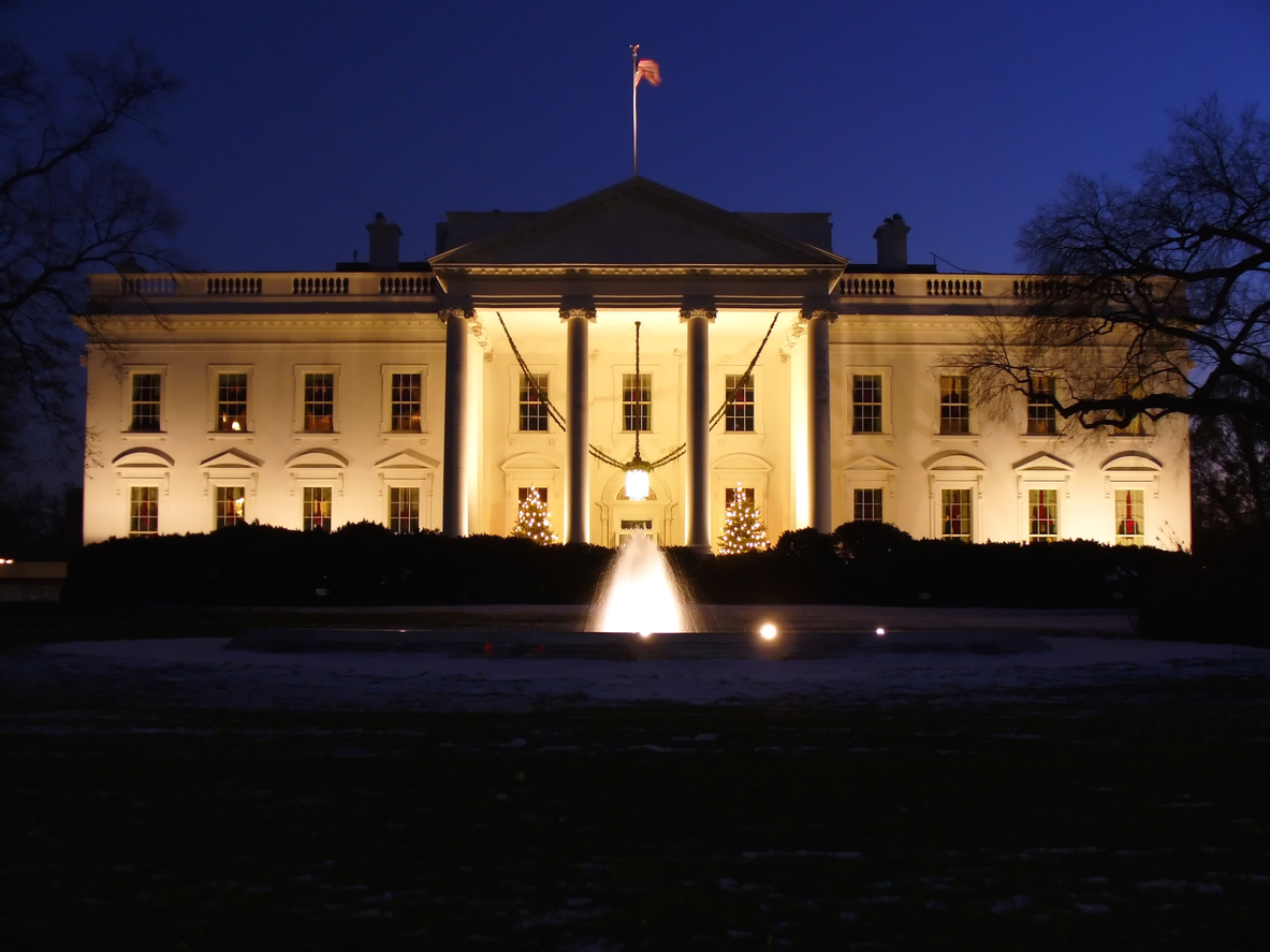 Photo of the White House during Christmastime in Washington, D.C. Photo: iStock