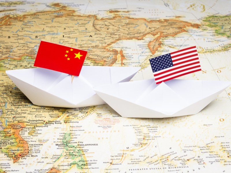 Conflict between China and USA in Asia-Pacific region. Photo: iStock