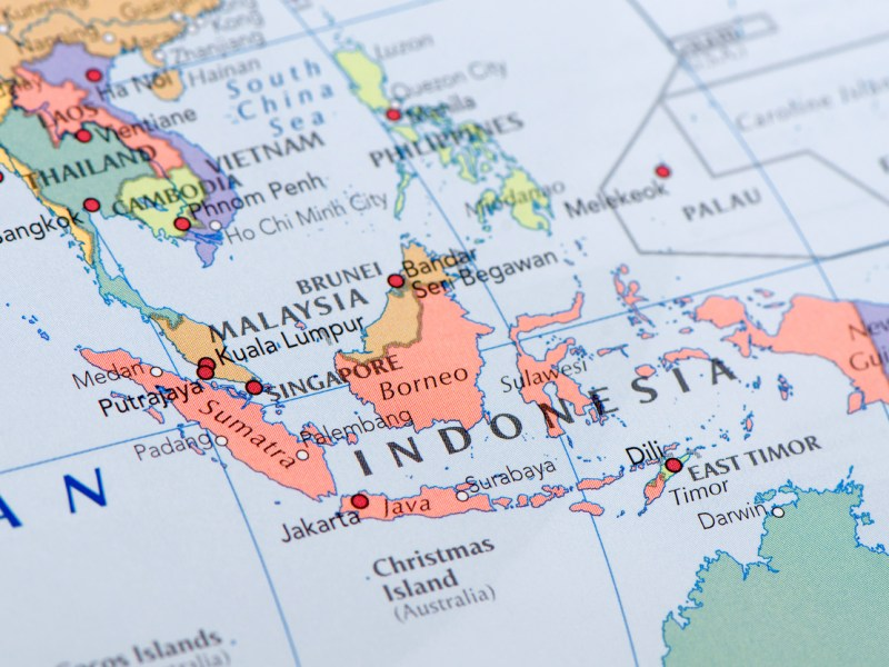 "Focus on Indonesia on the Map. Source: ""World reference atlas"" Photo: iStock"