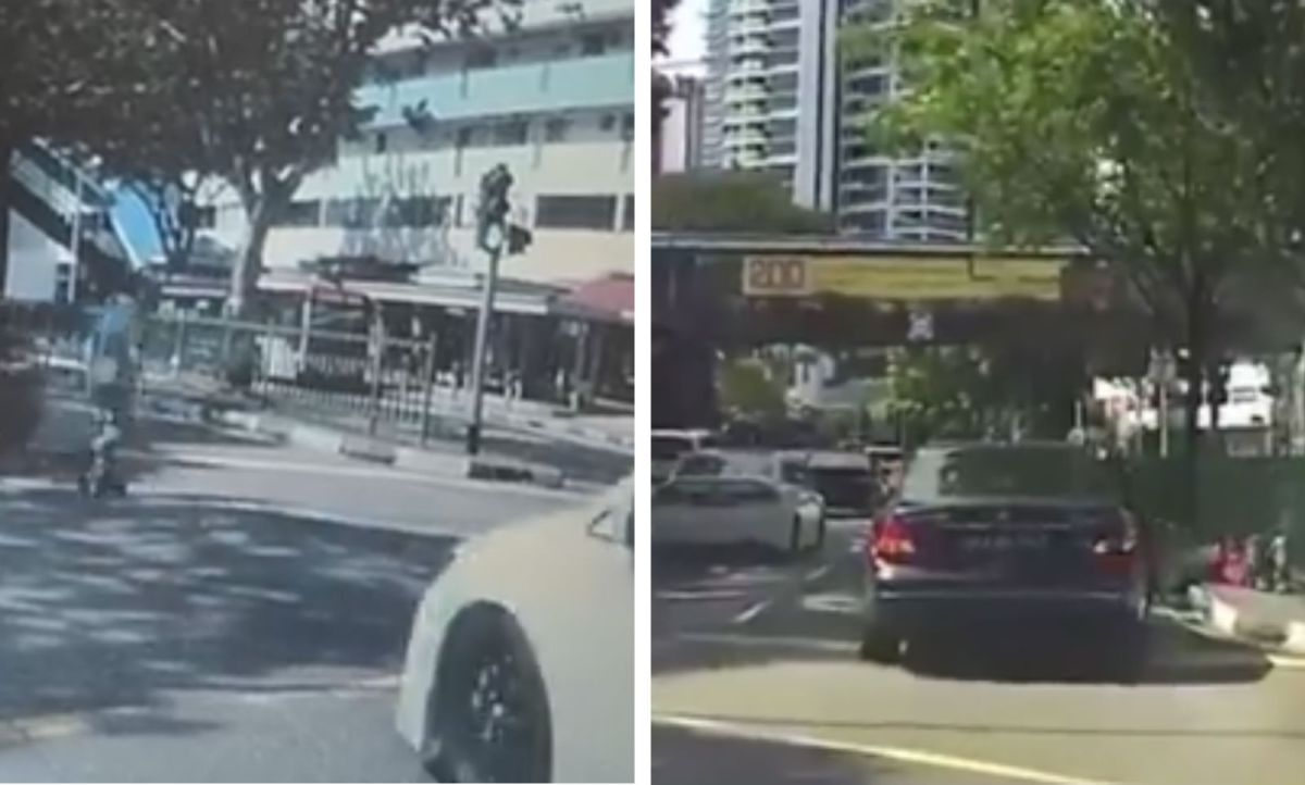 A 39-year-old man was jaywalking when he was hit by a car in Thomson Road, Singapore. Photo: Facebook