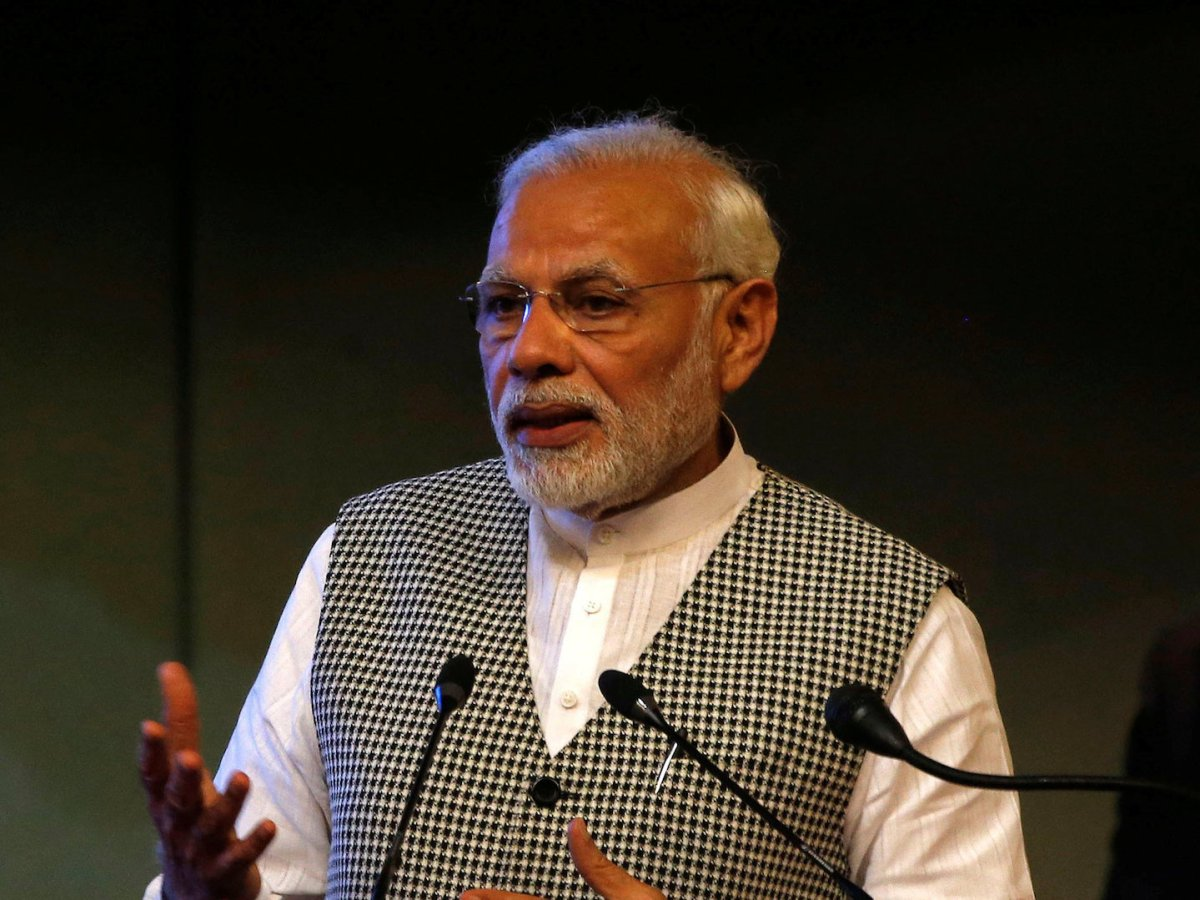 India's PM Narendra Modi speaks during the inauguration of a hydro power plant in Kashmir earlier this month. The Archbishop of Delhi has called for a prayer campaign until the next election, accusing Modi's party, the BJP, of threatening the country's secular fabric. Photo: Reuters/ Danish Ismail