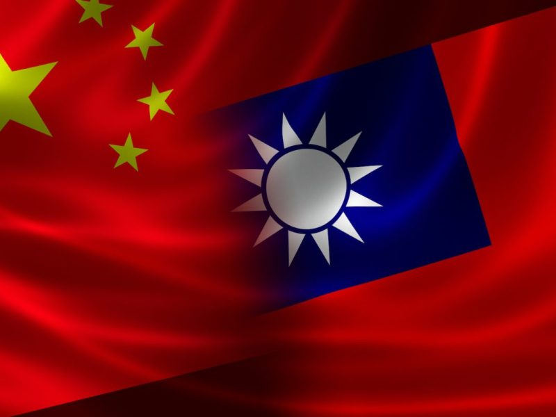 A merged Chinese-Taiwanese flag. Image: iStock/Getty Images