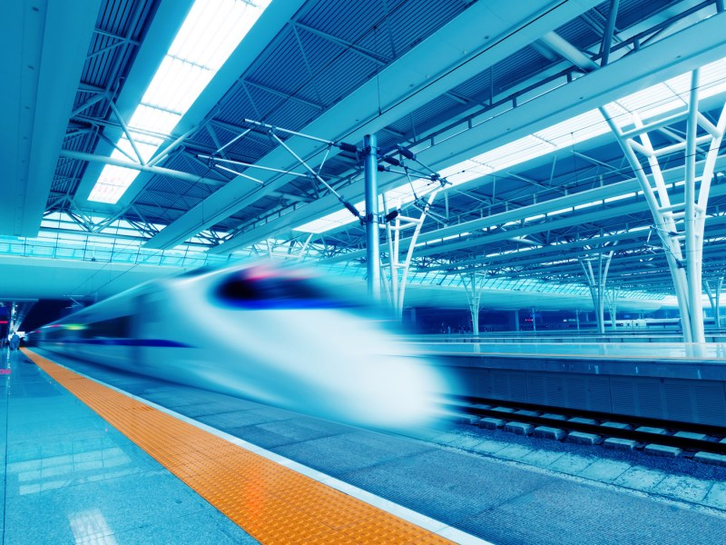 Roughly 20% of China's sprawling rail network is high-speed. Photo: iStock