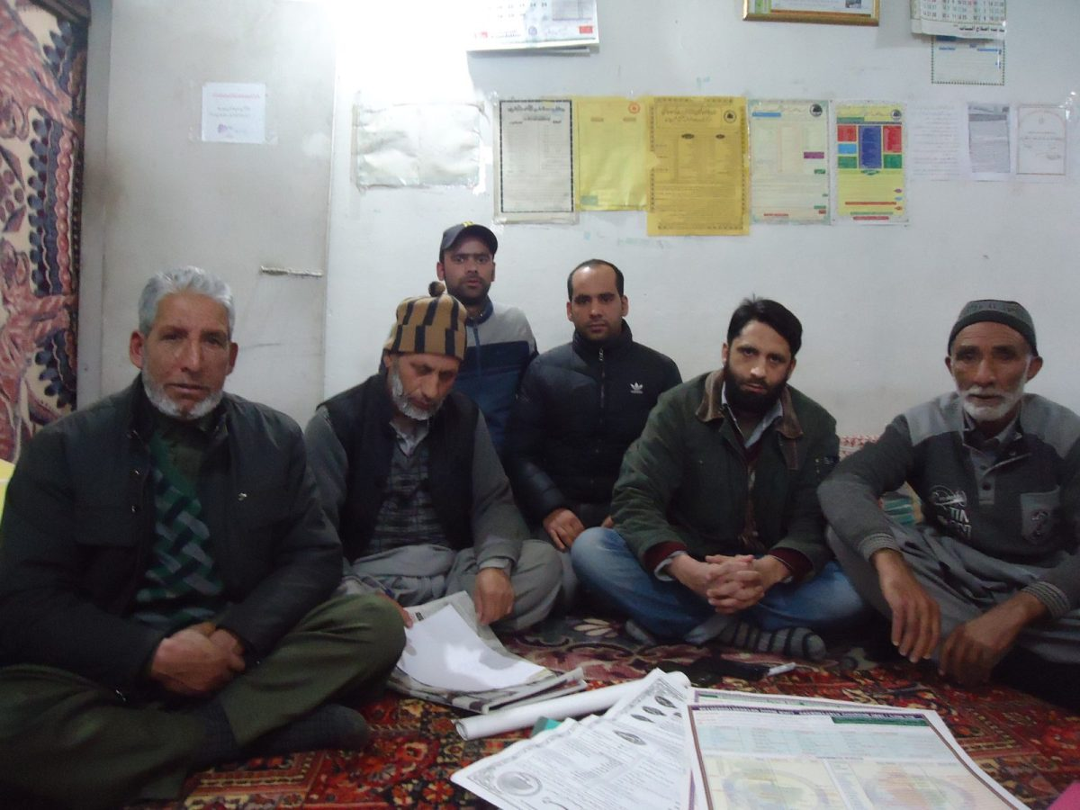 Members of Shopian-based charity Rehmatal-lil-alameen, an Islam-inspired community support group that feeds, educates and provides medicine to needy people in the district. Photo: Anando Bhakto