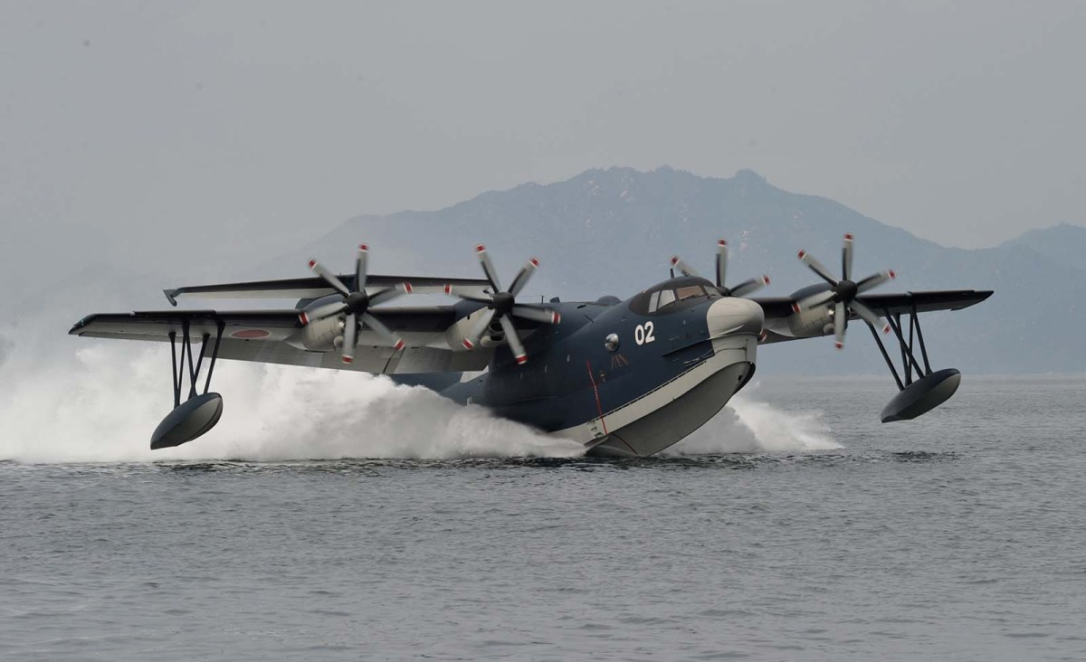 The amphibious US-2 aircraft is operated by the Japan Martime Self-Defense Force. Photo: JMSDF via AFP
