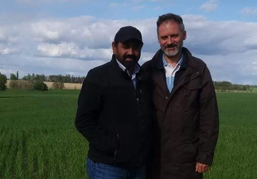 Indian farmer Jaswinder Singh shifted base to Ukraine for better opportunities. Photo: KG Sharma.