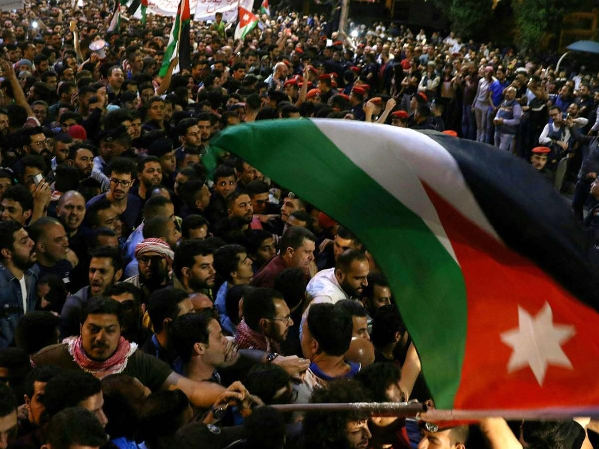 A controversial income tax bill that was approved on Sunday sparked summer protests in Jordan. Photo: AFP
