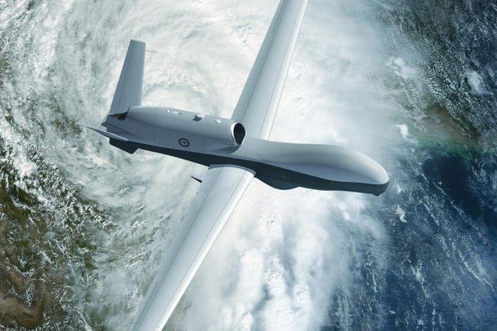 One of the billion-dollar drones that Australia is buying to monitor adjacent seas. Illustration: Northrop-Grumman