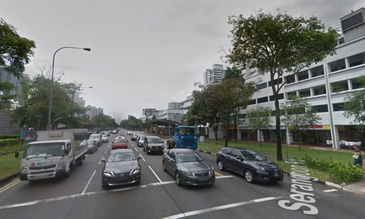 Boon Keng MRT station on Serangoon Road in Singapore, an area where maids gather on their day off. Photo: Google Maps