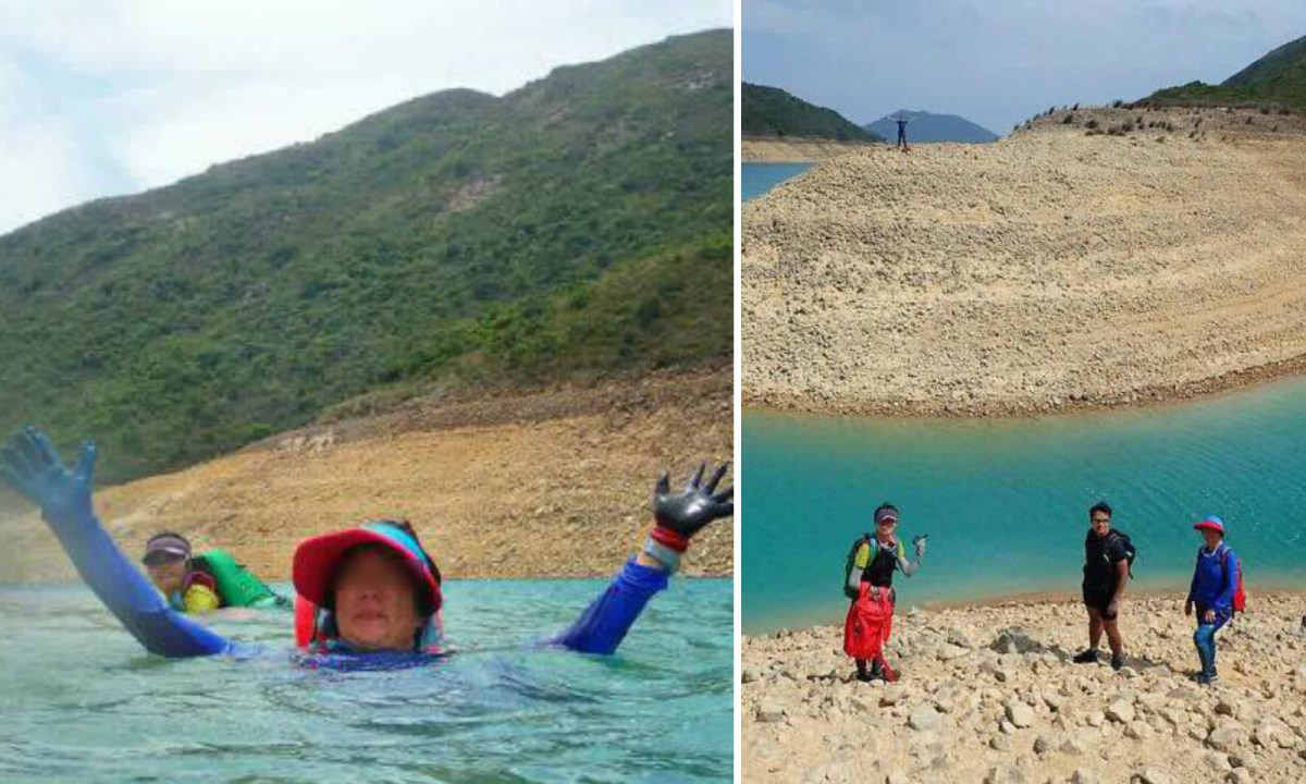 Several people are swimming in a reservoir in Hong Kong. Photo: 山野龍咁威@Facebook