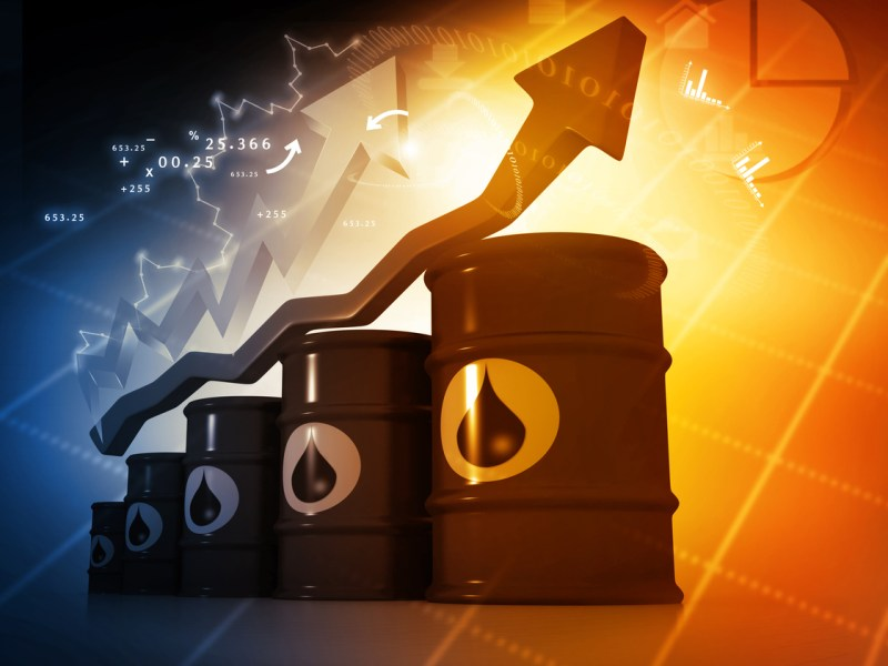 The price of West Texas Intermediate crude rose by $2. Illustration: iStock