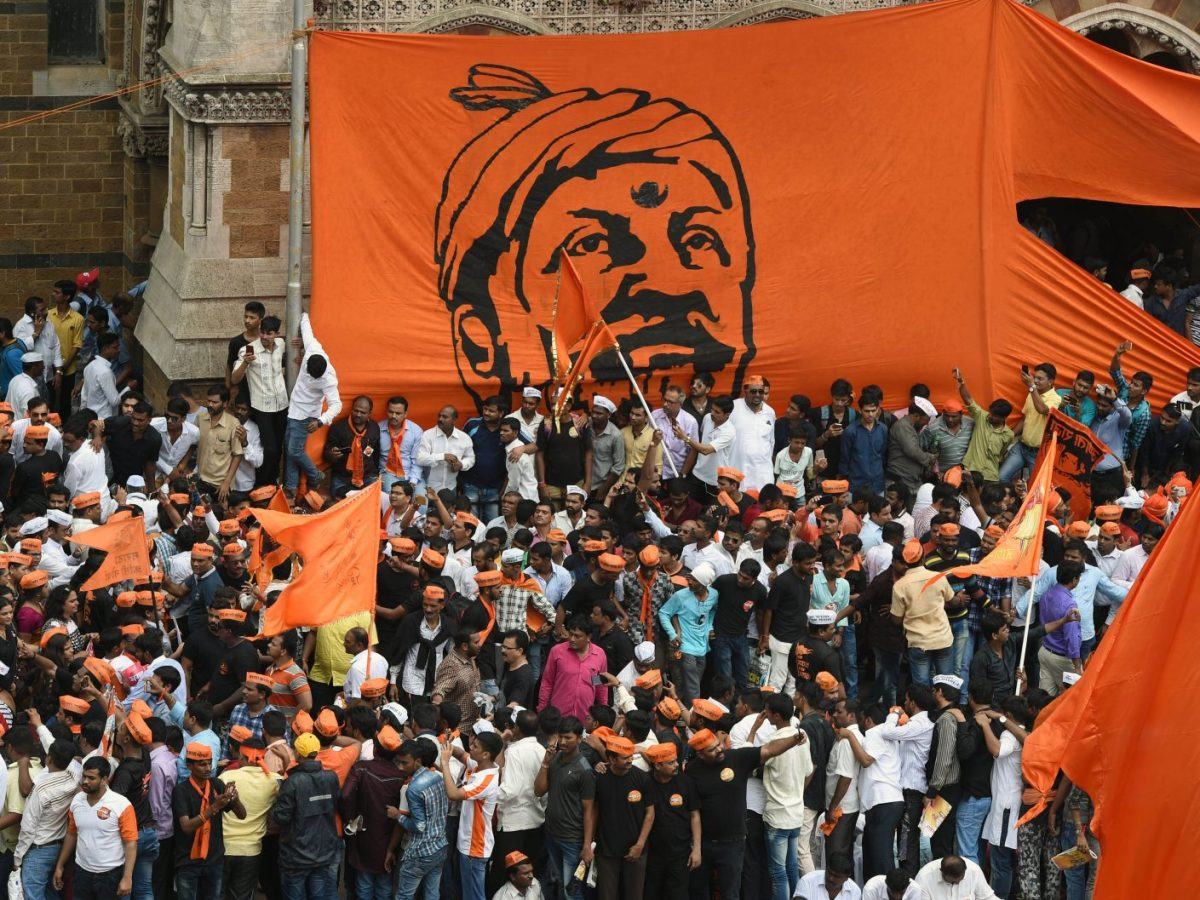 Members of the Maratha community take part in a rally in Mumbai in August. Photo: AFP