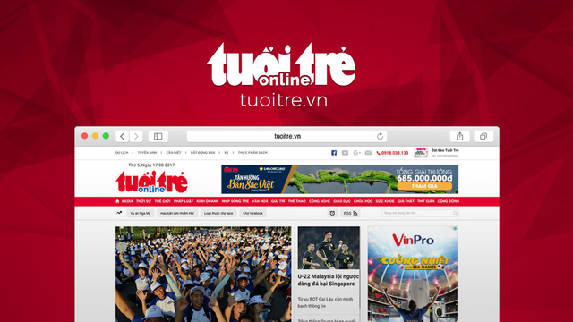 Tuoi Tre Online. Screengrab: Tuoi Tre News