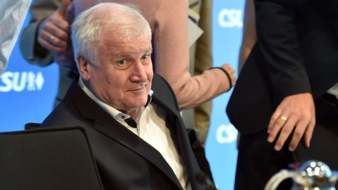 German Interior Minister Horst Seehofer leads the Bavarian Christian Social Union. Photo: AFP
