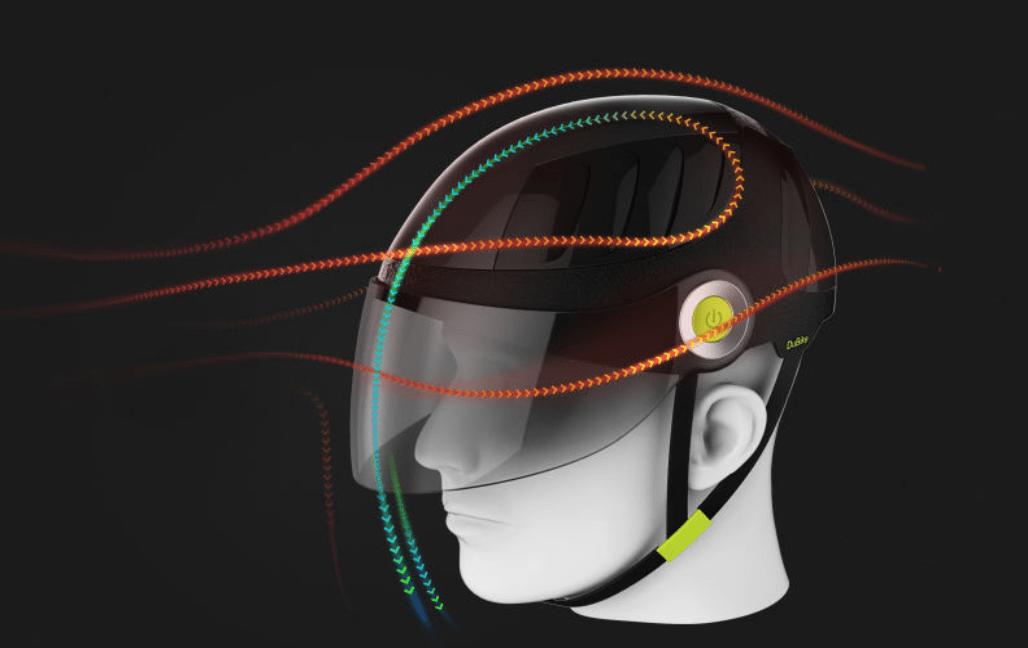 An artist's impression of the 'brainpower-boosting' helmet. Photo: Handout