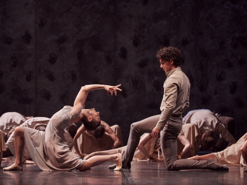 Alina Cojocaru and Isaac Hernandez star in Akram Khan's Giselle by the English National Ballet. Photo: Laurent Liotardo