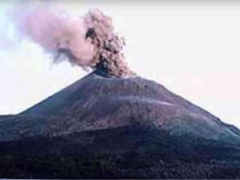 Anak Krakatau has become active in recent weeks and erupted on Thursday. Photo: YouTube