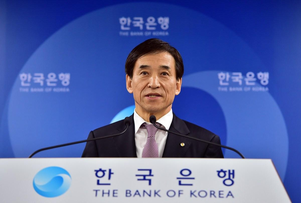 Bank of Korea Governor Lee Ju-Yeol. Photo: AFP/ Jung Yeon-je