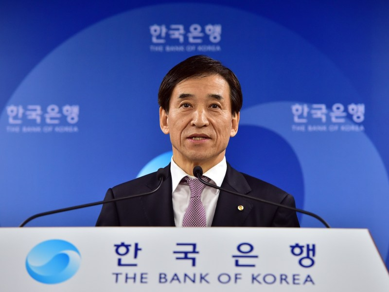 Bank of Korea Governor Lee Ju-Yeol. Photo: AFP/ Jung Yeon-je