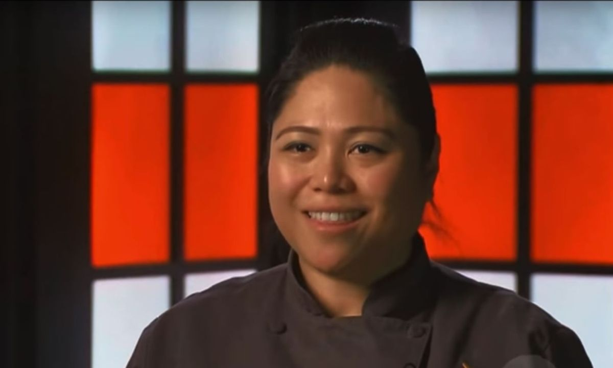 Filipina Joyce Anne Bucad won against three other chefs in US reality-based cooking show Chopped. Photo: YouTube