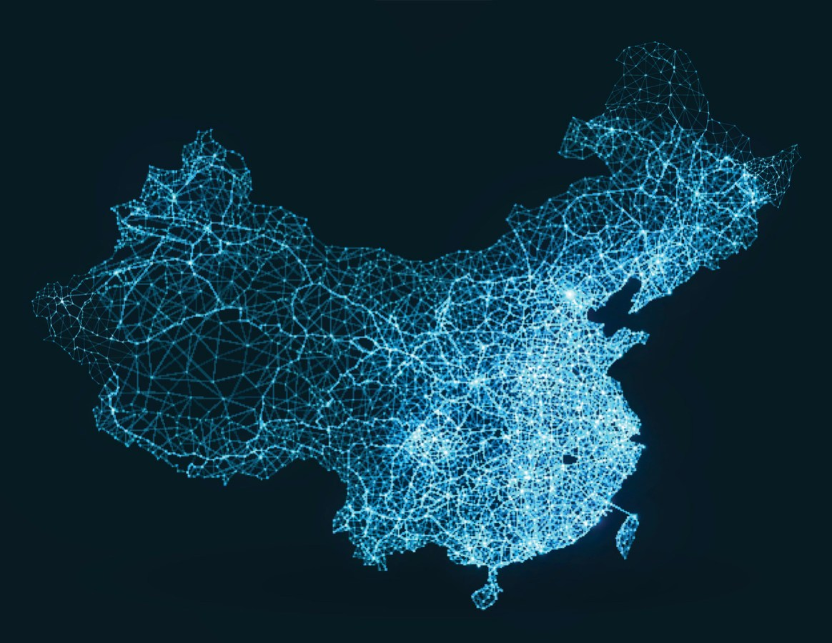 Abstract representation of China's digital infrastructure. Image: iStock/Getty Images