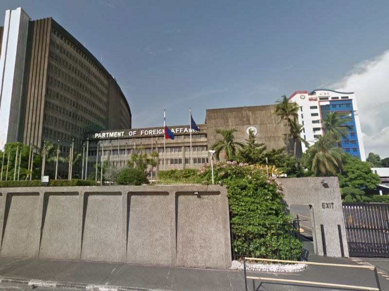 Department of Foreign Affairs in Manila, Philippines. Photo: Google Maps