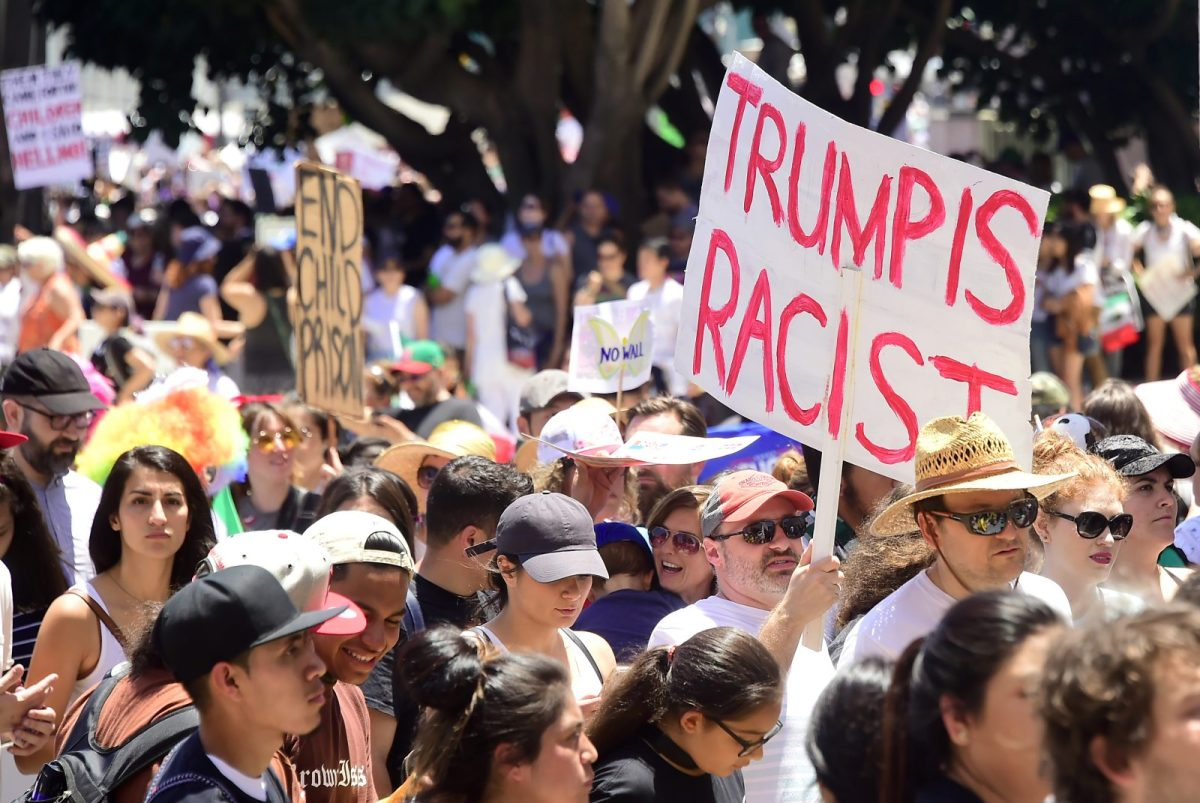 Thousands turned out on June 30 to decry the Trump administration's detention of families policy at the US Mexico border. Divisions have grown in the US under the Trump administration. Photo: AFP/Frederic J. Brown