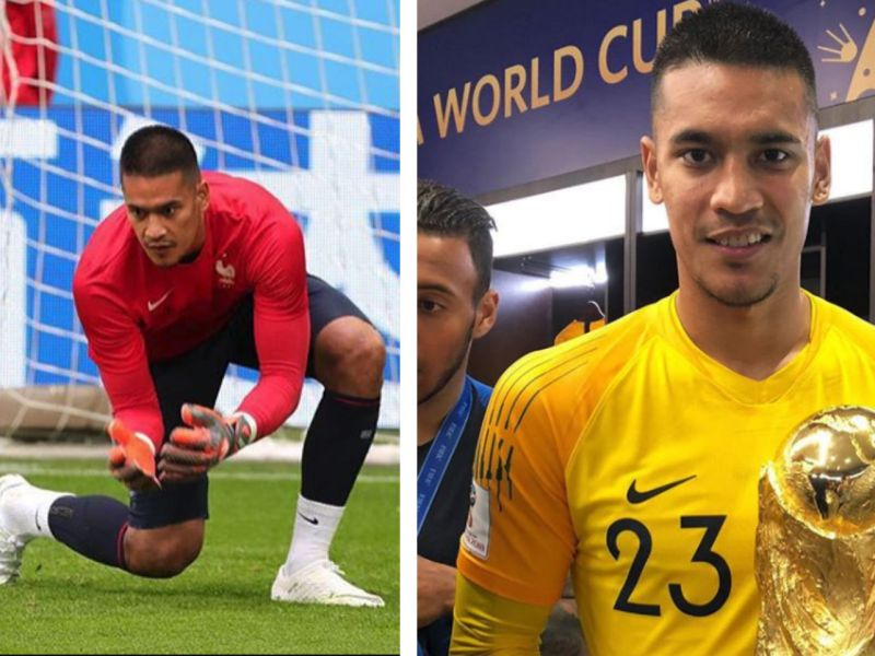 Alphonse Areola has made history by being the first Filipino to be a FIFA World Cup champion. Photo: Instagram@areolaofficiel