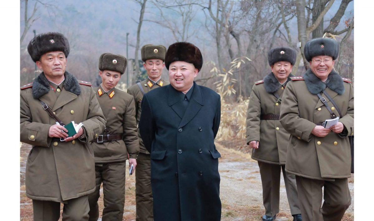 North Korean leader Kim Jong-un inspecting inter-continental ballistic missiles. Photo: AFP/KCNA VIA KNS