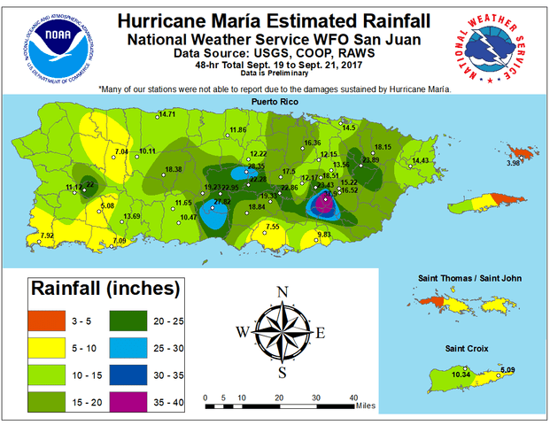 Hurricane Maria hit Puerto Rico in September 2017. Graphic: Wikipedia