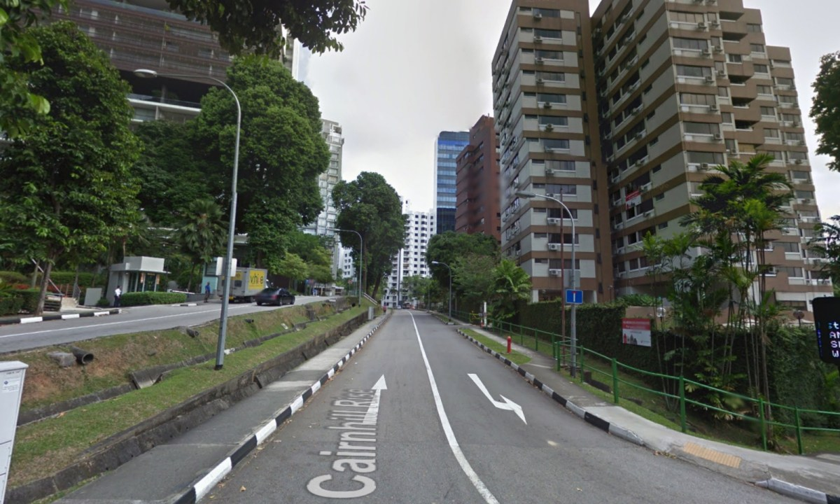 The neighborhood on Cairnhill Rise in Singapore. Photo: Google Maps