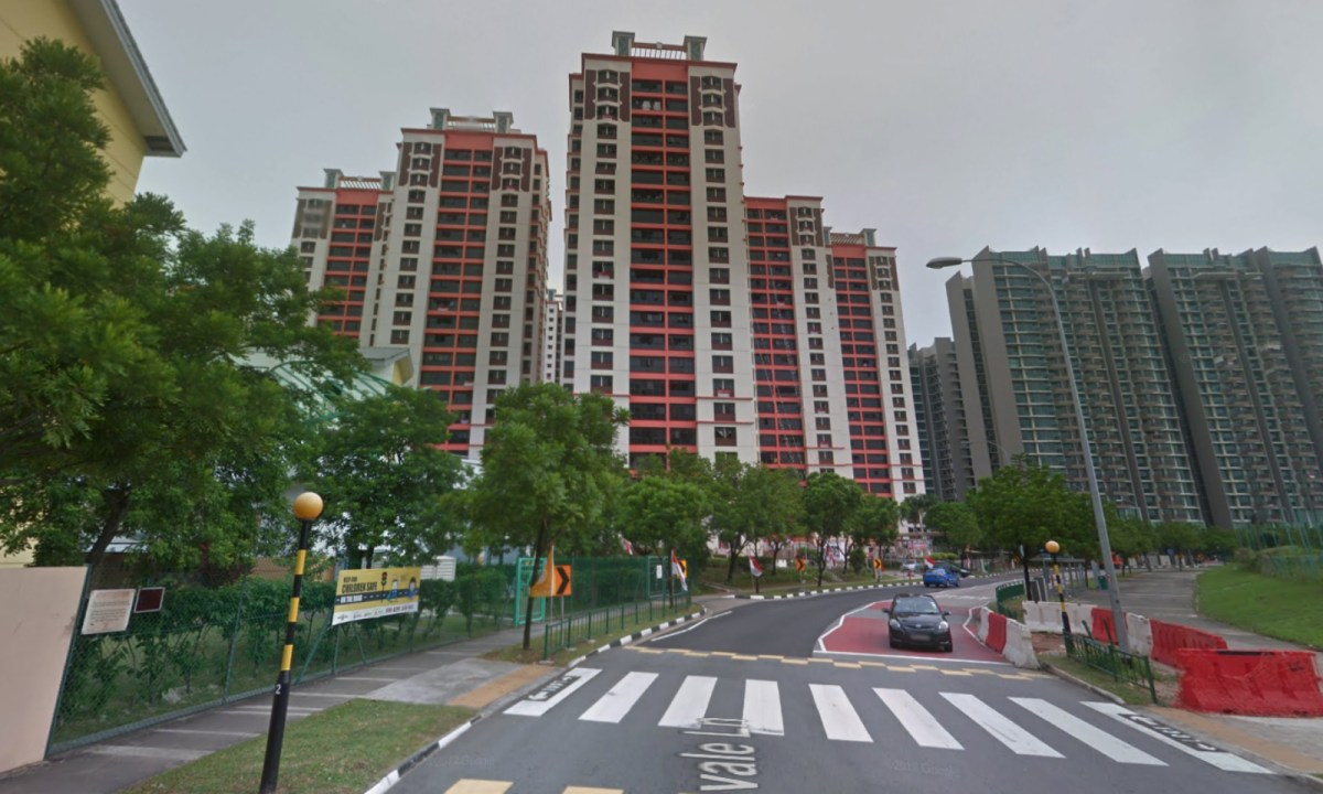 The HDB estate on Fernvale Lane in Singapore where the assaults took place. Photo: Google Maps