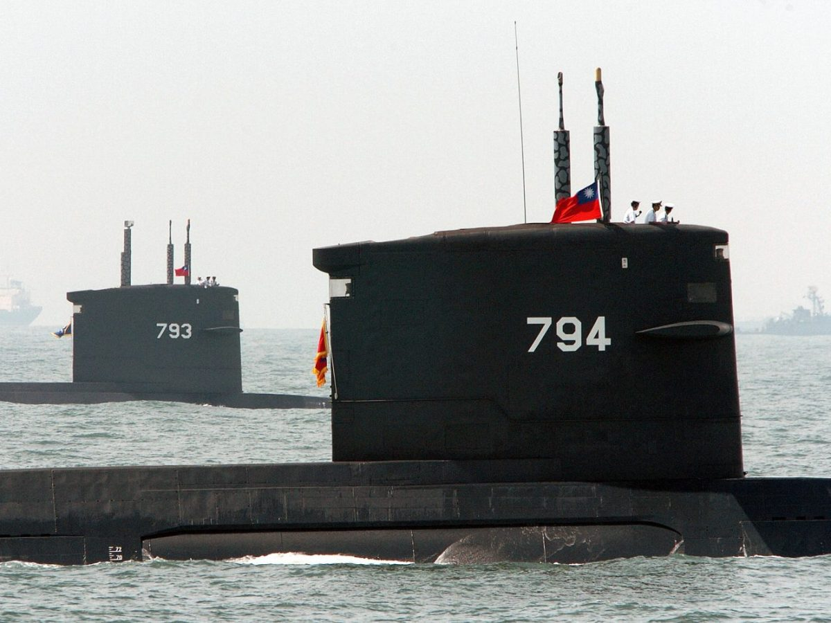 Two Dutch-made submarines surface near southern Taiwan during an exercise in July 29, 2004. Taiwan has been having trouble updating its submarine fleet. Photo: AFP/Sam Yeh